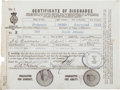 Autographs:Non-American, [RMS Titanic]. Captain Edward Smith Certificate of DischargeSigned...