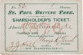 Autographs, James J. Hill St. Paul Driving Park Shareholder's Ticket Signed ...