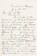 Autographs:U.S. Presidents, Abraham Lincoln Autographed Letter Signed ...