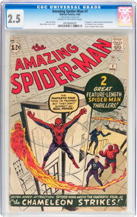 The Amazing Spider-Man #1 (Marvel, 1963) CGC GD+ 2.5 Cream to off-white pages