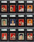 Baseball Cards:Lots, 1949 Bowman Baseball Low Numbers SGC 88 NM/MT 8 Collection (32)....