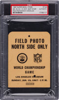Football Collectibles:Tickets, 1967 Super Bowl I Press Pass PSA Authentic - Packers Vs. Chiefs....