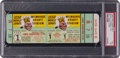 Baseball Collectibles:Tickets, 1958 Milwaukee Braves vs. New York Yankees Full Game One Ticket -PSA NM 7....