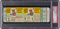 Baseball Collectibles:Tickets, 1958 Milwaukee Braves vs. New York Yankees Game 1 Full Ticket - PSA7....