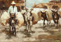 Paintings, RAMON KELLY (American, b. 1939). Burro's Burros, 1985. Oil on artists' board. 8-1/2 x 12-1/2 inches (21.6 x 31.8 cm). Si...