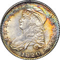 Bust Half Dollars, 1820 50C Curl Base 2, Small Date MS63 NGC. O-103a, R.2....