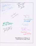 Books, Extensively Signed Hardbound Volume of The Robinson S. Brown,Jr. Collection of Large Cents,...