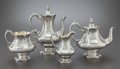 Silver & Vertu:Hollowware, A FOUR PIECE SCOTTISH VICTORIAN SILVER AND SILVER GILT TEA AND COFFEE SERVICE. Glasgow, Scotland, circa 1849-1850. Marks: (l... (Total: 4 )