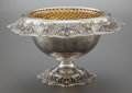 Silver Holloware, American:Center Pieces, AN AMERICAN SILVER RETICULATED CENTERPIECE WITH GILT SILVER-PLATEDLINER AND BASKET. Circa 1910. Marks: STERLING, 14 1/2 I...