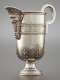 Silver & Vertu:Hollowware, A CONTINENTAL SILVER EWER. Probably Spain, 19th century. Marks: (three partially effaced marks). 9-3/8 inches high (23.8 cm)...