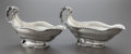 Silver Holloware, Continental:Holloware, A PAIR OF HANAU SILVER SAUCE BOATS . Hanau, Germany, circa 1850.Marks: (winged A-crowned), (A-crowned), (crown, fleur-de-li...(Total: 2 )