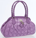 Luxury Accessories:Bags, Christian Dior Lavender Nylon Cannage Bowling Bag. ...