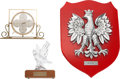 """Baseball Collectibles:Others, Stan Musial Family Crest, """"Sports Legend Award"""" and Desk Clock...."""