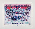 Football Collectibles:Others, 1969 New York Jets Team Signed Lithograph. ...