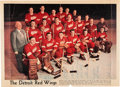 Hockey Collectibles:Photos, Circa 1951 Detroit Red Wings Signed Oversized Photo With RookieTerry Sawchuk. ...