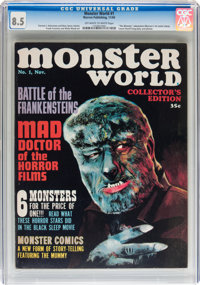 Monster World #1 (Warren, 1964) CGC VF+ 8.5 Off-white to white pages