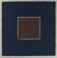 ELLSWORTH KELLY (American, b. 1923) Colored Paper Images - XX (Brown square with blue), 1976 Colored