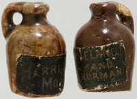 Benjamin Harrison and Grover Cleveland: Pair of Little Brown Jugs