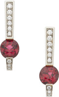 Estate Jewelry:Earrings, Jean Francois Albert Spinel, Diamond, 18k White Gold Earrings. ...
