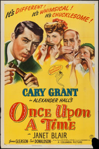 "Once Upon a Time (Columbia, 1944). One Sheet (27"" X 41"") Style B. Comedy"