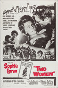"""Movie Posters:Foreign, Two Women (Embassy, 1961). One Sheet (27"""" X 41""""). Foreign.. ..."""