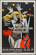 "Movie Posters:Science Fiction, The Astounding She Monster (American International, 1958). OneSheet (27"" X 41""). Science Fiction.. ..."
