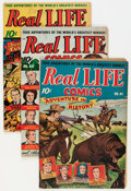 Golden Age (1938-1955):Non-Fiction, Real Life Comics Group (Nedor Publications, 1945-47) Condition:Average VG-.... (Total: 5 Comic Books)