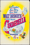 "Movie Posters:Animation, Cinderella (Buena Vista, R-1957). One Sheet (27"" X 41"").Animation.. ..."