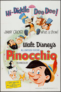 "Movie Posters:Animation, Pinocchio (Buena Vista, R-1971). One Sheet (27"" X 41""). Animation.. ..."