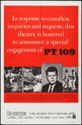 """Movie Posters:War, PT 109 (Warner Brothers, 1964). One Sheet (27"""" X 41"""") KennedyStyle. War.. ..."""