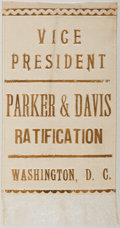 Political:Ribbons & Badges, Alton B. Parker: Silk Ratification Ribbon....