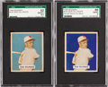 Baseball Cards:Singles (1940-1949), 1949 Bowman Bob Dillinger #143 SGC Graded Variation Pair (2). ...