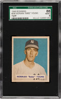 Baseball Cards:Singles (1940-1949), 1949 Bowman Norman Young #240 SGC 88 NM/MT 8 - Pop Two, NoneHigher! ...