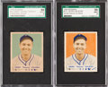 Baseball Cards:Singles (1940-1949), 1949 Bowman Henry Majeski #127 SGC Graded Variation Pair (2). ...