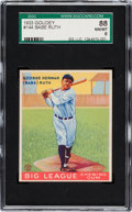 Baseball Cards:Singles (1930-1939), 1933 Goudey Babe Ruth #144 SGC 88 NM/MT 8....