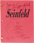 "Movie/TV Memorabilia:Autographs and Signed Items, ""Seinfeld"" Cast Signed Episode Script. A table draft script forepisode #96 (""The Race""), dated December 2, 1994, and signed...(Total: 1 Item)"