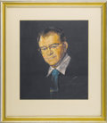 "Movie/TV Memorabilia:Original Art, Emile LaVigne Chalk Portrait by Nicholas Volpe. A 15"" x 18""portrait of the late Hollywood make-up artist, drawn in layered ...(Total: 1 Item)"
