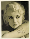 "Movie/TV Memorabilia:Memorabilia, Joan Marsh Signed Photo to Marian Marsh. A lushly beautifuloversized 10"" x 13"" portrait of platinum blonde actress Joan Mar...(Total: 1 Item)"