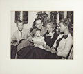 "Movie/TV Memorabilia:Photos, Fonda Family Photo, Circa 1953. A b&w 8"" x 10"" photo of theFonda Family circa 1953, featuring Henry Fonda, then-wife Susan ...(Total: 1 Item)"