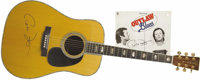 "Peter Fonda's Martin D-45 from ""Outlaw Blues"" With Soundtrack LP, Both Signed. This unique 1974 dreadnought Ma..."