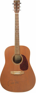 Movie/TV Memorabilia:Autographs and Signed Items, Peter Fonda's Martin D-15 Acoustic Guitar, Signed. This beautifulall-mahogany Martin dreadnought guitar comes to us from th...(Total: 1 Pieces Item)