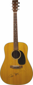 Movie/TV Memorabilia:Autographs and Signed Items, Peter Fonda's 1974 Martin D-18, Signed. This lovely dreadnought Martin has spent its lifetime in Fonda's collection and has ... (Total: 1 Item)