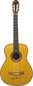 "Movie/TV Memorabilia:Autographs and Signed Items, Peter Fonda's Autographed Goya G-30 Classical Guitar. This mid-'70sGoya classical guitar is in excellent ""aged"" condition, ... (Total:1 Item)"