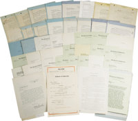 Laurel and Hardy's Complete Hal Roach Studio Archive of Contracts from 1923 to 1939, with Dozens of Their Signatures, Pl...