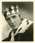"Movie/TV Memorabilia:Autographs and Signed Items, Basil Rathbone Signed Photo from ""Tower of London"". A stunningoriginal 8 ""x 10"" portrait of Basil Rathbone as Richard III ...(Total: 1 Item)"