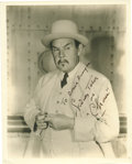 "Movie/TV Memorabilia:Autographs and Signed Items, Sidney Toler Signed Photo. An original 8"" x 10"" matte-finishportrait of Sidney Toler as Charlie Chan, signed in black fount...(Total: 1 Item)"