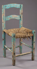 Western Expansion:Cowboy, 19TH CENTURY SPANISH COLONIAL PINE CHAIR. Another fine example fromthe Spanish Colonial period. This early item has been p... (Total:1 Item)