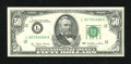 Error Notes:Ink Smears, Fr. 2119-L $50 1977 Federal Reserve Note. About Uncirculated.. ...