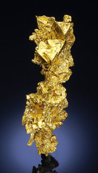 CRYSTALLIZED NATIVE GOLD Eagle's Nest Mine (Mystery Wind Mine), Placer County, California, USA