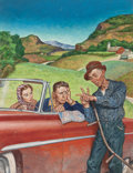 Mainstream Illustration, AMOS SEWELL (American, 1901-1983). Asking for Directions, TheSaturday Evening Post cover, July 9, 1955. Oil on board. 2...